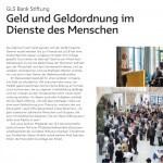 Chancen eröffnen: Geld im Dienste des Menschen, Imagebroschüre 2014, GLS Treuhand