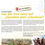 """van der Ven Dental: Kundenmagazin PORTAL, Frühjahr 2014: van der Ven setzt auf """"Spenden statt schenken"""""""