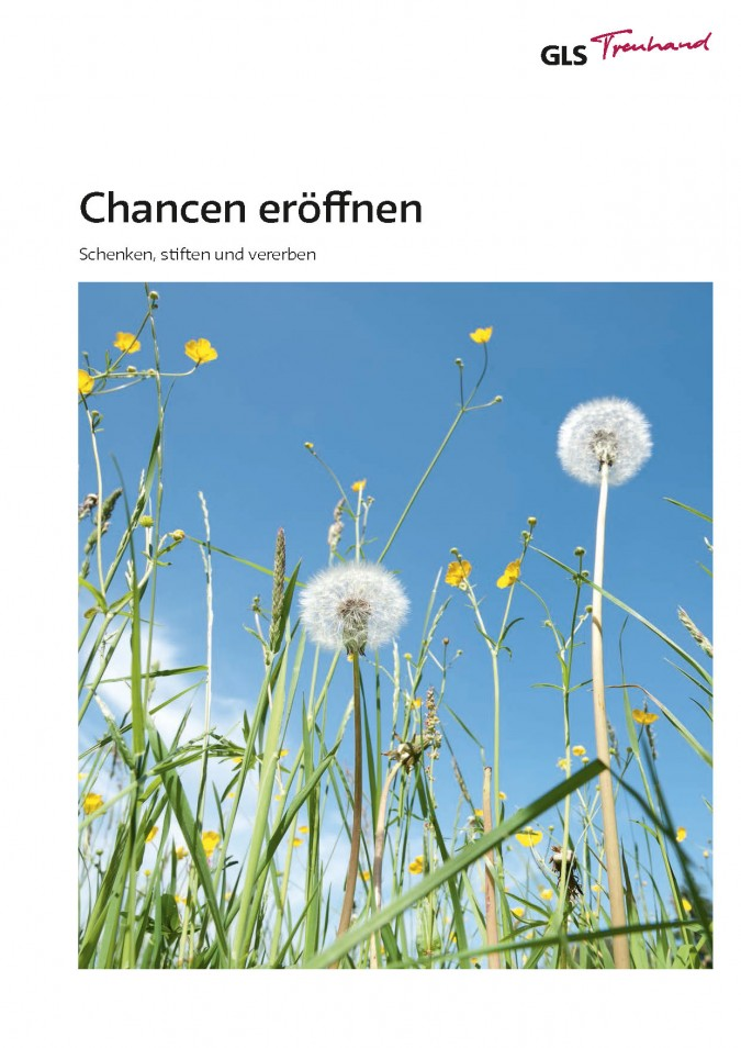 GLS Treuhand: Chancen eröffnen, 2014, Imagebroschüre