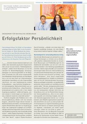"""NRW.BANK """"prospect"""" Gründerland 2008: Erfolgsfaktor Persönlichkeit"""