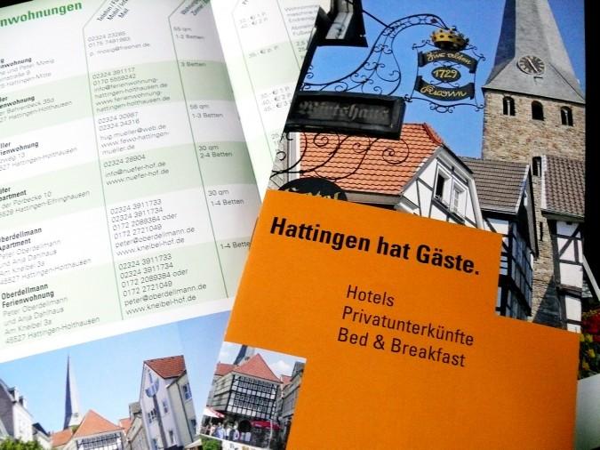 """Unterkunftsverzeichnis """"Hattingen hat Gäste"""""""