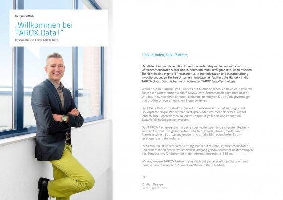 Broschüre TAROX Data Cloudservices - Einleitung