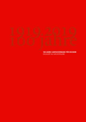 100 Jahre Caritas 2019 Jubiläumsbroschüre - Titelseite
