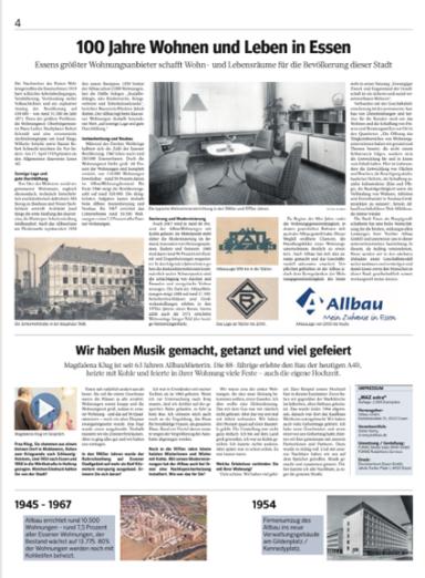 WAZ-Sonderausgabe - 100 Jahre Allbau - Innenseite