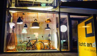 Leuchten im Lichtland-Schaufenster