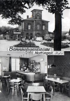 Postkarte: Bahnhofsgaststätte Hattingen - Ruhr