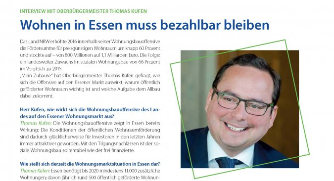 Allbau Mein Zuhause - Interview OB Thomas Kufen