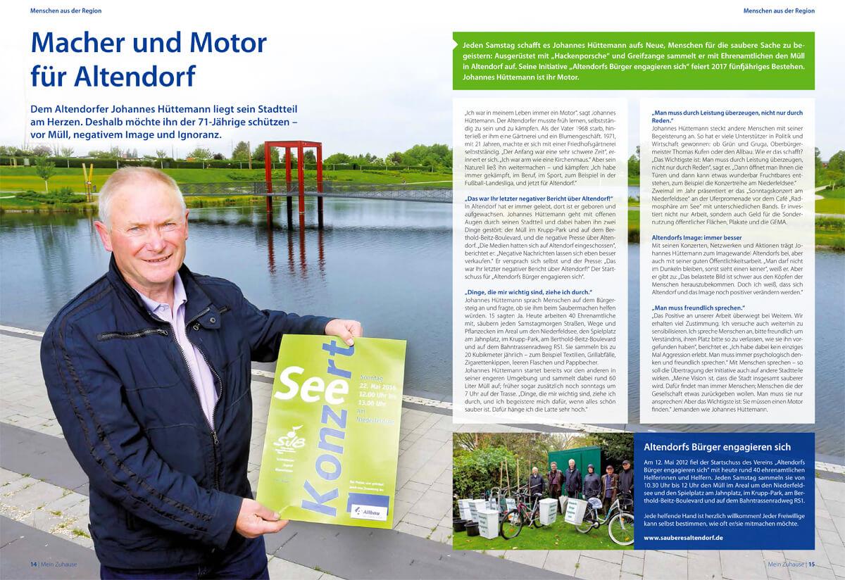 Mein Zuhause: Das Magazin der Allbau GmbH