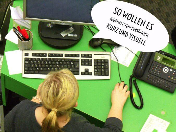Journalist am Bildschirmarbeitsplatz. Bild: Sandra Anni Lang