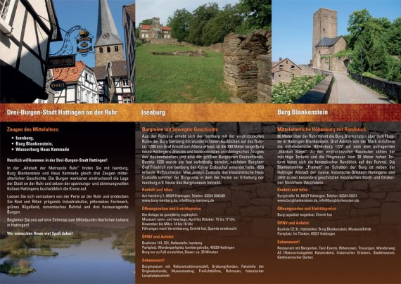 Drei-Burgen-Stadt Hattingen an der Ruhr