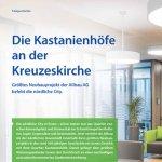 """Die Kastanienhöfe an der Kreuzeskirche: Titelgeschichte, Mietermagazin der Allbau AG """"Mein Zuhause"""", 2016"""