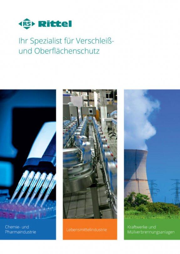 Titelseite RS Rittel Imagebroschüre: Ihr Spezialist für Verschleiß- und Oberflächenschutz