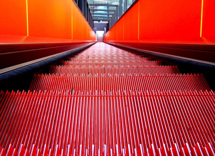 Rolltreppe auf dem UNESCO-Welterbe Zollverein. © Sandra Anni Lang