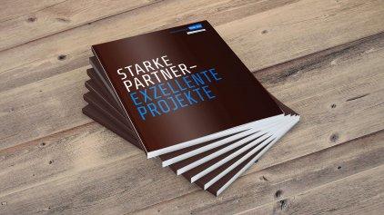 "Titelseite des Katalogs ""Starke Partner – exzellente Projekte"""