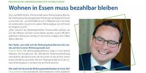 Interview mit Oberbürgermeister Thomas Kufen: Wohnen in Essen muss bezahlbar bleiben