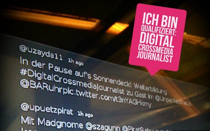 Ich bin qualifiziert: Digital Crossmedia Journalist